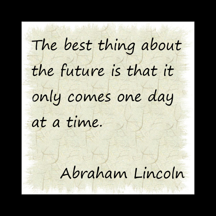 The best thing about the future…